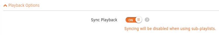 Sync Playback